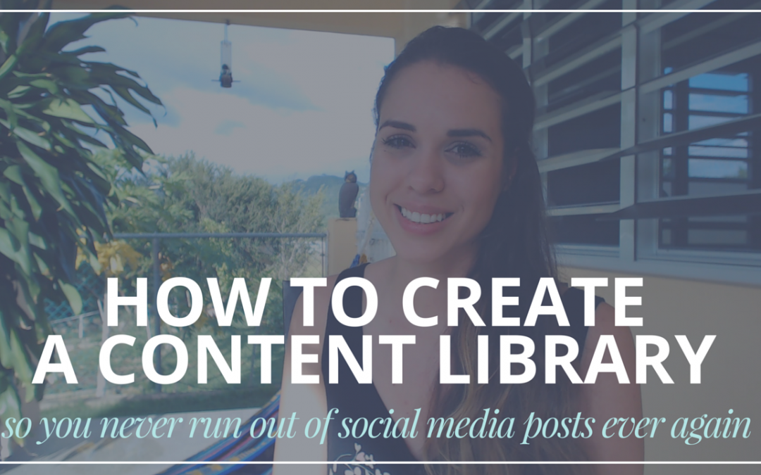 Countdown Video #4: How To Create A Content Library So You Never Run Out Of Post Ideas