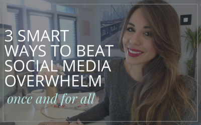 3 Ways To Beat Social Media Overwhelm