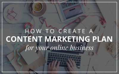 How To Create A Content Marketing Plan For Your Online Business